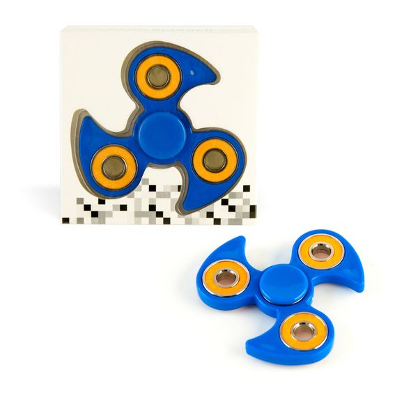 DS24 Spinner in Blau Orange - Hand Spinner - Fidget Spinner  sofort  DE frei Haus – Bild 1