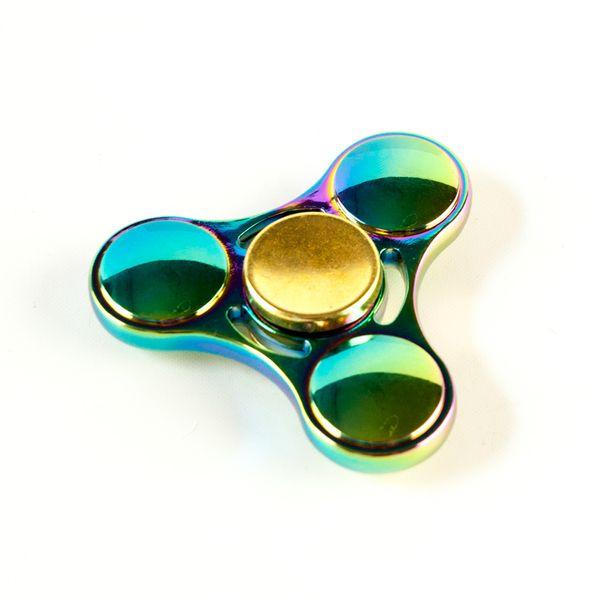 DS24 Premium Spinner TRIO Regenbogen - Hand Spinner Metall - Profi Spinner - High Quality  DE frei Haus – Bild 3