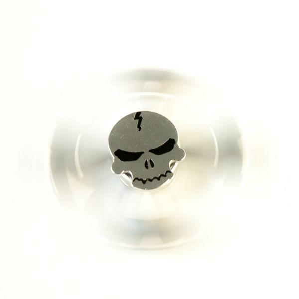 DS24 Premium Spinner Totenkopf Silber - Hand Spinner Metall - Profi Spinner - High Quality  DE frei Haus – Bild 2