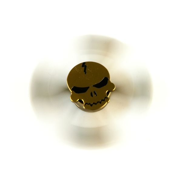 DS24 Premium Spinner Totenkopf Gold Messing Optik - Hand Spinner Metall - Profi Spinner High Quality  DE frei Haus  – Bild 2