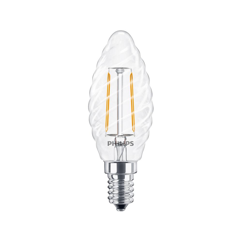 Philips Classic LEDcandle 2W Ersatz für 25W Glühlampe 827 E14 klar warmweiß ST35 250lm