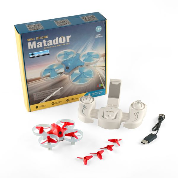 DS24 Cheerson CX95W Matador Mini Drohne ROT mit Kamera - Quadrocopter Homeracer
