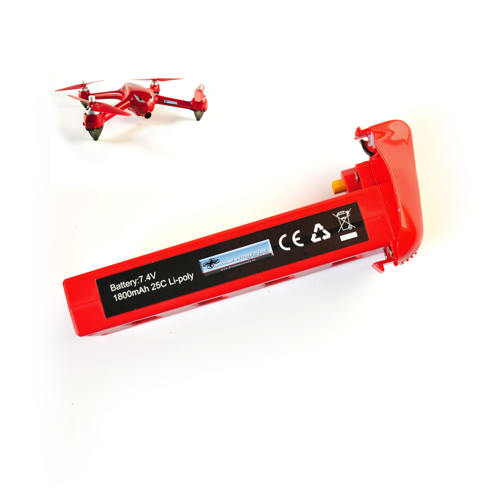 Ersatz Akku für MJX Bugs 2 Drohne 7.4V 1800mAh - Quadrocopter Ersatz - Lipo