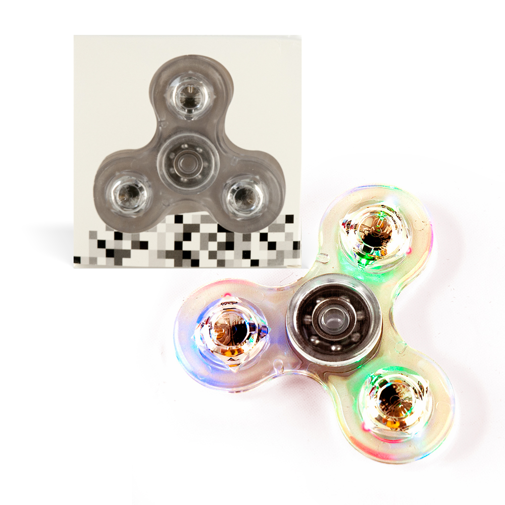 DS24 Premium LED Spinner in Transparent - Hand Spinner - Fidget Spinner  DE frei Haus