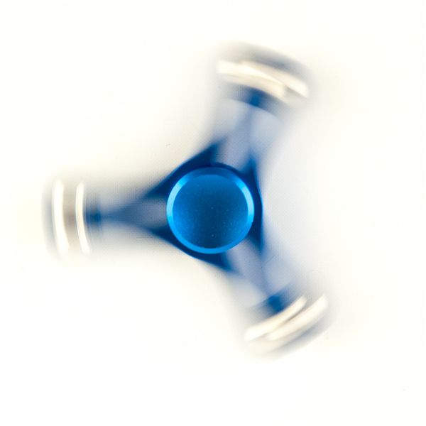 DS24 Premium Spinner TRIO Blau Kugeln - Hand Spinner Metall - Profi Spinner - High Quality  DE frei Haus – Bild 2