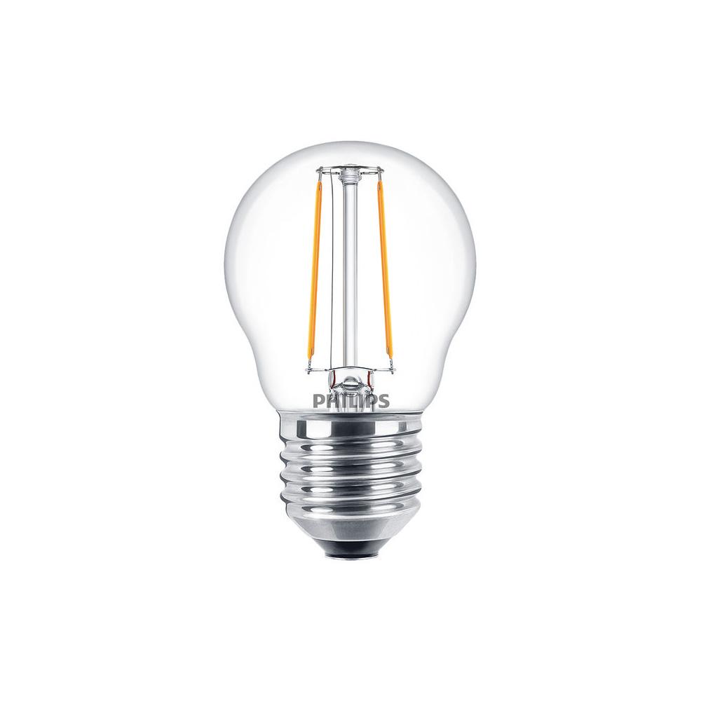 Philips Classic LEDluster 2W Ersatz für 25W Glühlampe 827 250lm E27 P45 klar