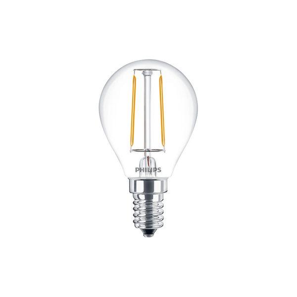 Philips Classic LEDluster 2W Ersatz für 25W Glühlampe 827 250lm E14 P45 klar