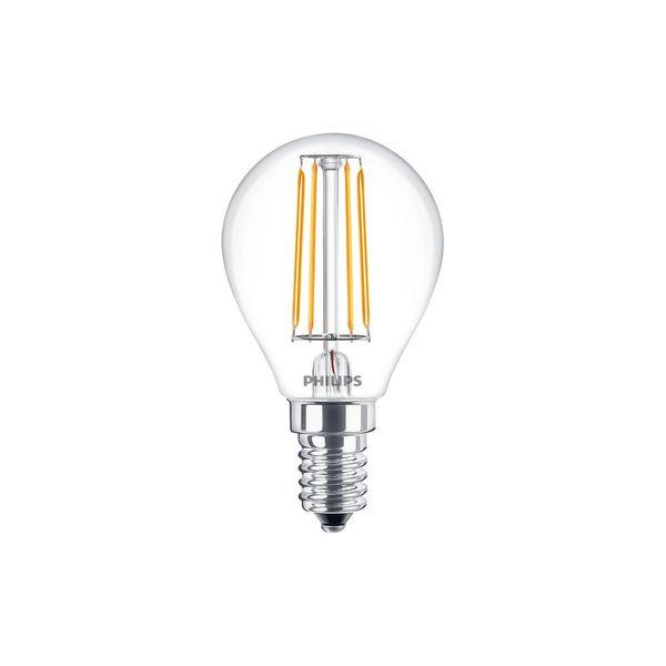 Philips Classic LEDluster 4W Ersatz für 40W Glühlampe 827 470lm E14 P45 klar FIL