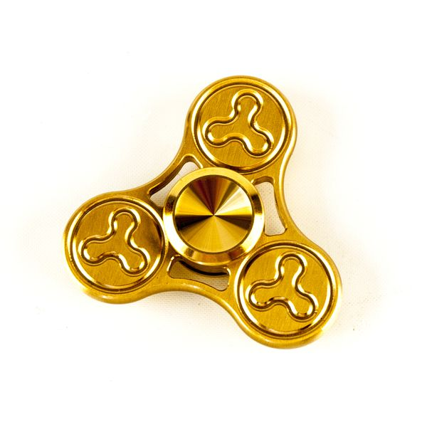 DS24 Premium Spinner TRIO Spin Gold - Hand Spinner Metall - Profi Spinner - High Quality  DE frei Haus – Bild 3