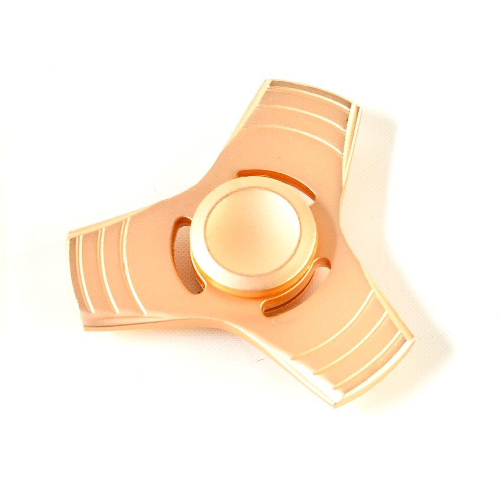 DS24 Premium Spinner Trio Stern MATT Rose - Hand Spinner Metall - Profi Spinner - High Quality  DE frei Haus
