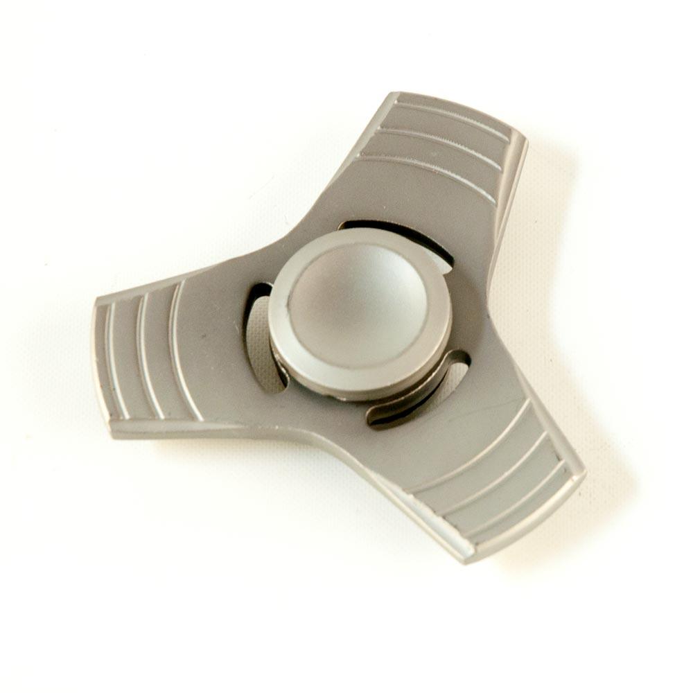 DS24 Premium Spinner Trio Stern MATT Grau - Hand Spinner Metall - Profi Spinner - High Quality  DE frei Haus