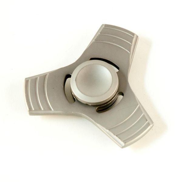 DS24 Premium Spinner Trio Stern MATT Grau - Hand Spinner Metall - Profi Spinner - High Quality  DE frei Haus – Bild 3