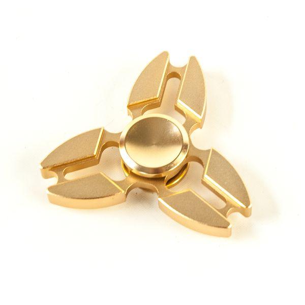 DS24 Premium Spinner TRIO Rose Gold - Hand Spinner Metall - Profi Spinner - High Quality  DE frei Haus – Bild 3