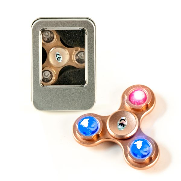 DS24 Premium LED Spinner in Rose Gold - Hand Spinner - Fidget Spinner  DE frei Haus – Bild 1