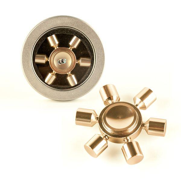 DS24 Premium Spinner CREME 6 Arme - Hand Spinner Metall - Profi Spinner - High Quality  DE frei Haus – Bild 1