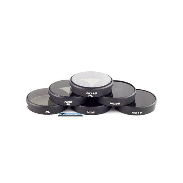 PolarPro 6-Pack Filter für DJI  Phantom 4 Phantom 3 Pro Adv  4K - CP  ND8  ND16  ND32 ND8 / PL ND16 / PL - Premium Qualität   – Bild 3