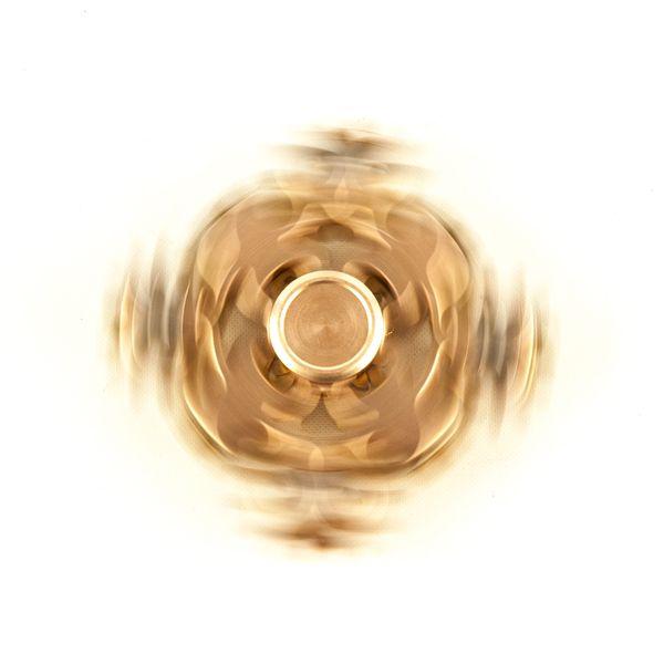 DS24 Premium Spinner Zahnrad creme Gold  - Hand Spinner Metall - Profi Spinner - High Quality  DE frei Haus – Bild 2