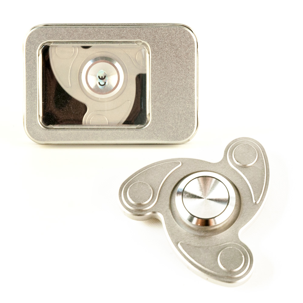DS24 Premium Spinner Swing Silber  - Hand Spinner Metall - Profi Spinner - High Quality  DE frei Haus