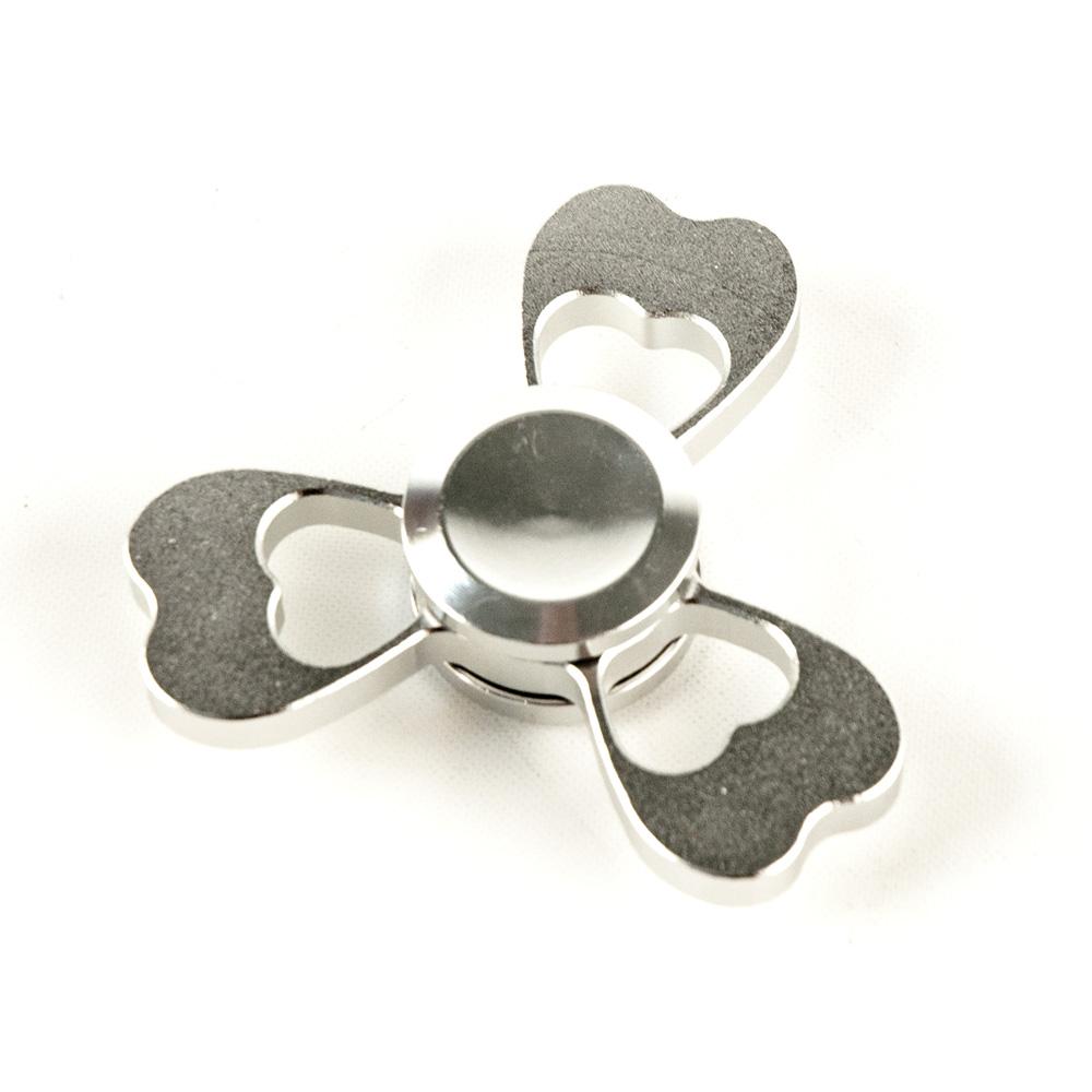 ds24 premium spinner herz silber hand spinner metall profi spinner high quality de frei. Black Bedroom Furniture Sets. Home Design Ideas