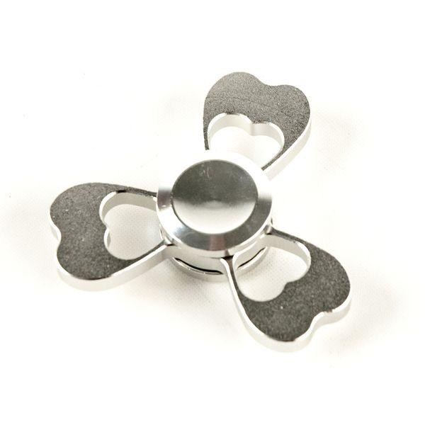DS24 Premium Spinner Herz Silber - Hand Spinner Metall - Profi Spinner - High Quality  DE frei Haus – Bild 3
