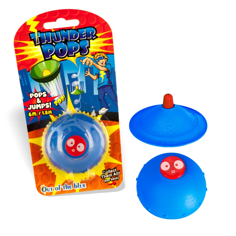 DS24 Thunder Pops in Blau - Gummi Ufo Schnalzer Popper Spring Pop