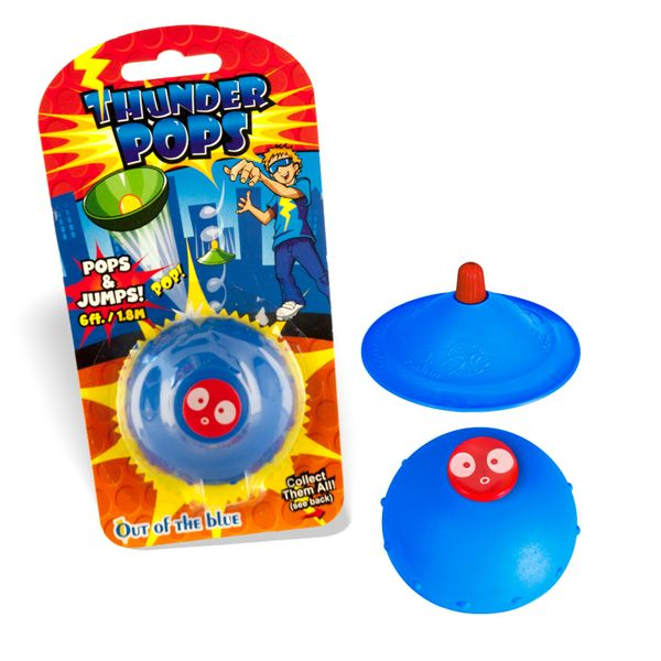 DS24 Thunder Pops in Blau - Gummi Ufo Schnalzer Popper Spring Pop