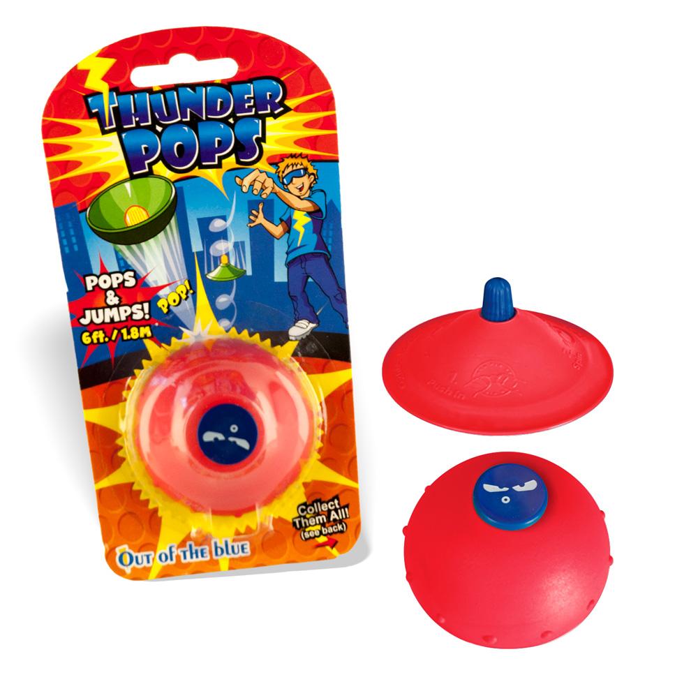 DS24 Thunder Pops in Rot - Gummi Ufo Schnalzer Popper Spring Pop