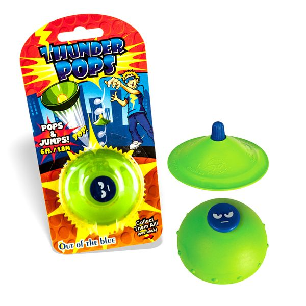 DS24 Thunder Pops in Grün - Gummi Ufo Schnalzer Popper Spring Pop