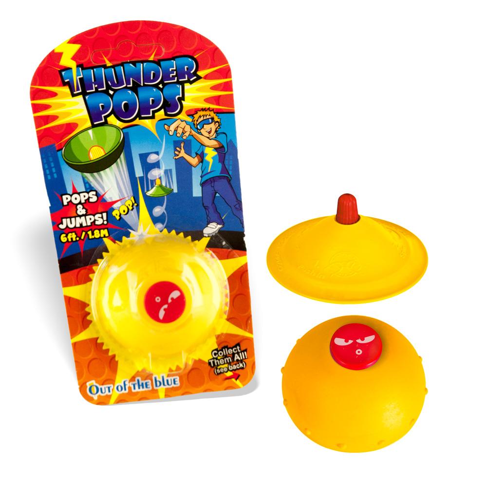 DS24 Thunder Pops in Gelb - Gummi Ufo Schnalzer Popper Spring Pop