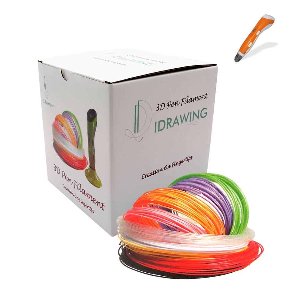 PLA Filament 20x 5m für 3D Drucker Stifte 1.75mm - verschiedene Farben - Nachfüller