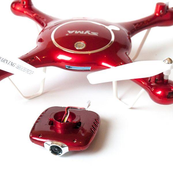 Syma X5UW Metallic Rot Edition Drohne mit 4er Akku Set und DS24 Spinner - FPV Kamera Drohne – Bild 8
