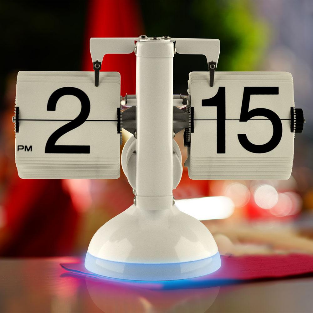 Gagatime Flip Clock - Klatsch Tischuhr mit LED  - Tischuhr mit blauer Beleuchtung