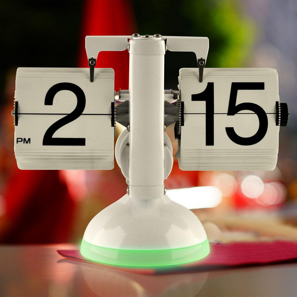 Gagatime Flip Clock - Klatsch Tischuhr mit LED - Tischuhr mit grüner Beleuchtung