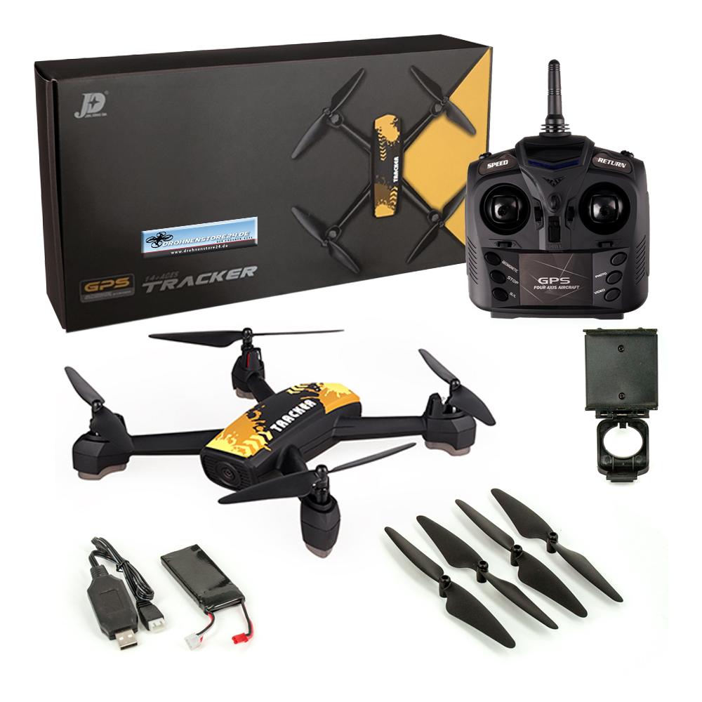 JXD 518 Outdoor Quadrocopter GPS Wifi FPV 720P Kamera höhenstabil gelb