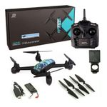 JXD 518 Outdoor Quadrocopter GPS Wifi FPV 720P Kamera höhenstabil blau