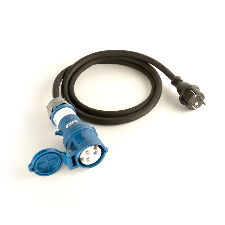 Adapterkabel 1 Phasig 230V 16A Schukostecker auf CEE 3 Polig Kupplung für Wallbox Ladestation Wallbox24