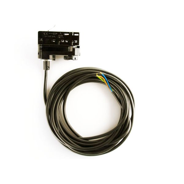 CLE 3 Phasen Stromschienenadapter Adapter schwarz mit 5m Kabel und Endhülsen  Staff Erco SLV Eutrac Hoffmeister Global Adapter – Bild 1
