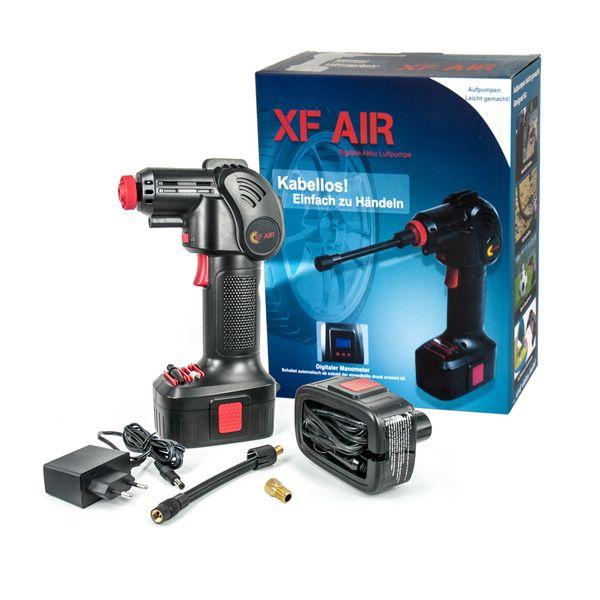 KN-TECH XF Air Akku Luftpumpe mit Akku und Auto Adapter – Bild 1
