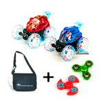 DS24 2x Dasher Mini Race Auto Spaßpaket mit Tasche + 2er Spinner SET