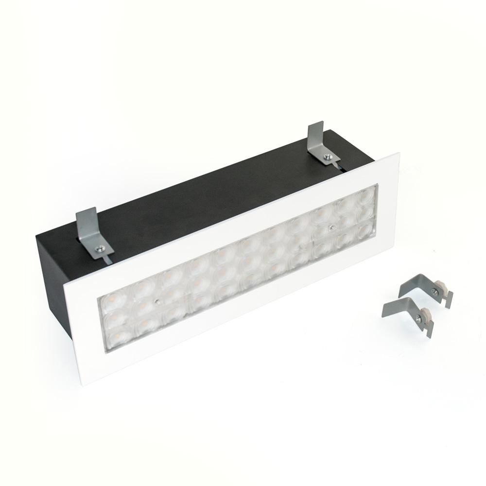 CLE Linear LED Power Einbauleuchte 10W 900lm 3000K 60Grad Weiß - Single