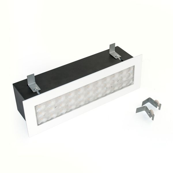 CLE Linear LED Power Einbauleuchte 10W 900lm 3000K 60Grad Weiß - Single