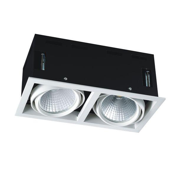 CLE LED Kardan Einbauleuchte YK2 mit Fortimo Philips SLM LED Modul 2x 3600lm 2x 28W weiß