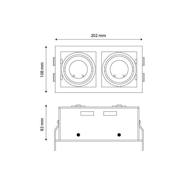 CLE LED Kardan Einbauleuchte YK2 mit Fortimo Philips SLM Modul 2x 3400lm 2x 28W weiß  – Bild 3
