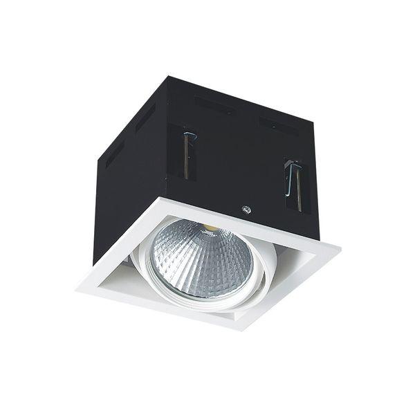 CLE LED Kardan Einbauleuchte YK1 mit Fortimo Philips SLM LED Modul 3400lm 28W weiß