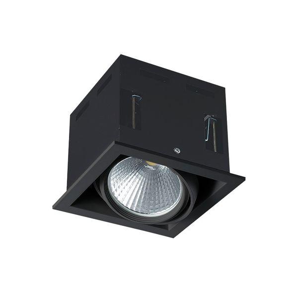 CLE LED Kardan Einbauleuchte YK1 mit Fortimo Philips SLM Modul 3400lm 28W schwarz – Bild 1