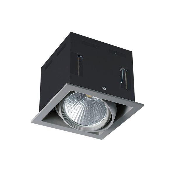 CLE LED Kardan Einbauleuchte YK1 mit Fortimo Philips SLM LED 3400lm 28W alu-grau
