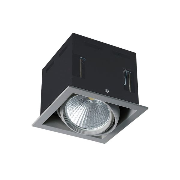 CLE LED Kardan Einbauleuchte YK1 mit Fortimo Philips SLM 3400lm 28W alu-grau – Bild 1