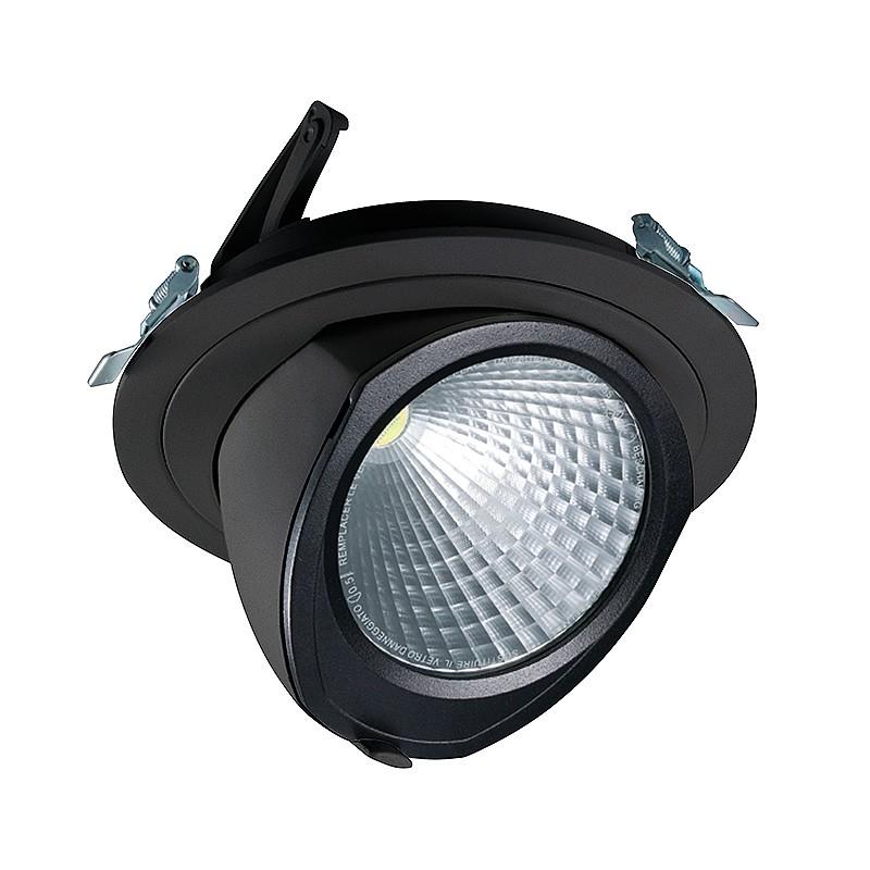 CLE LED YK Einbauleuchte mit Fortimo Philips LED SLM Modul 3600lm 28W schwarz