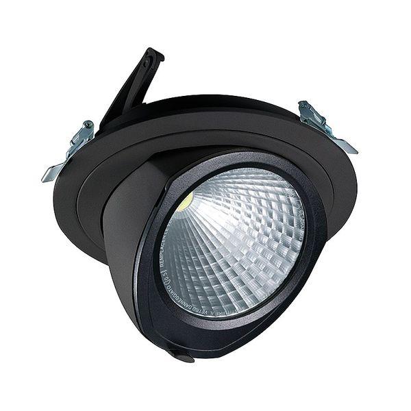 CLE LED YK Einbauleuchte mit Fortimo Philips SLM Modul 3400lm 28W schwarz – Bild 1