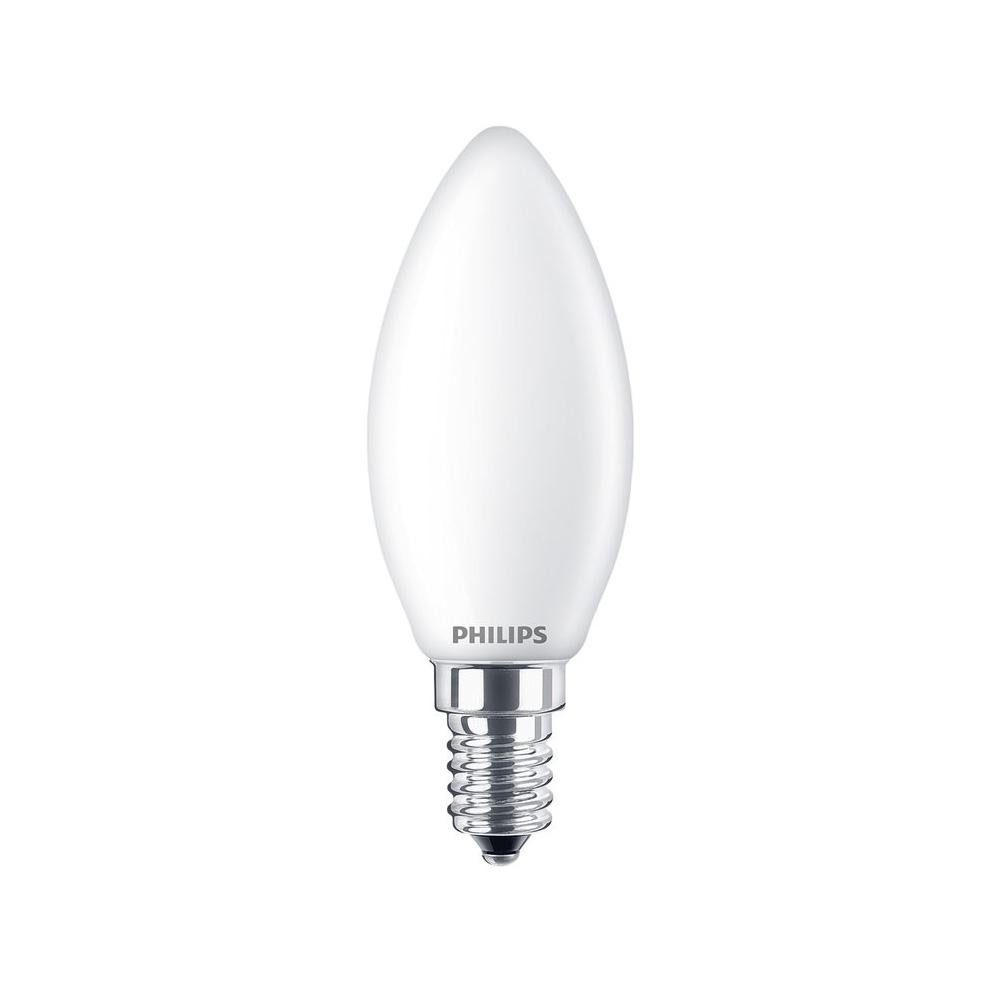 Philips Classic LEDcandle 4.3W Ersetzt 40W Glühlampe 827 E14 470lm warmweiß B35 matt